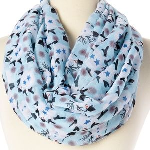 New Snowman on Blue Infinity Scarf